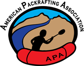 Logo for the American Packrafting Association (APA)